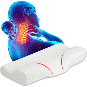 Contoured Cervical Memory Foam Neck Pain Pillow