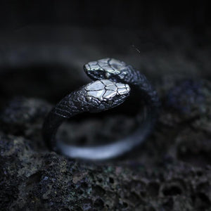 Double Snake Stainless Steel Ring
