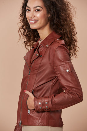 Valeria Moto - Washed Leather  I 40% OFF