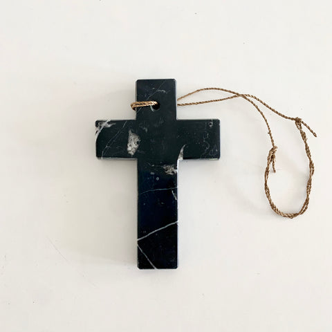 Black marble cross