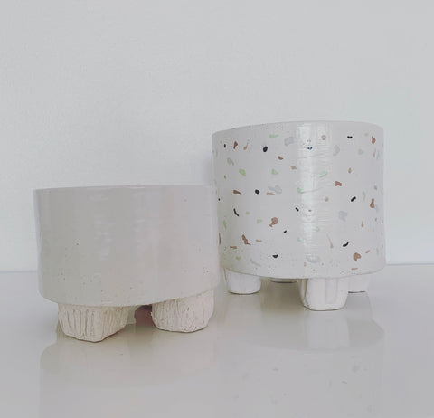 Medium Ceramic Planter (white)
