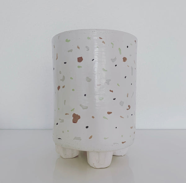 "Tall Ceramic Planter 8"" (multi-color)"