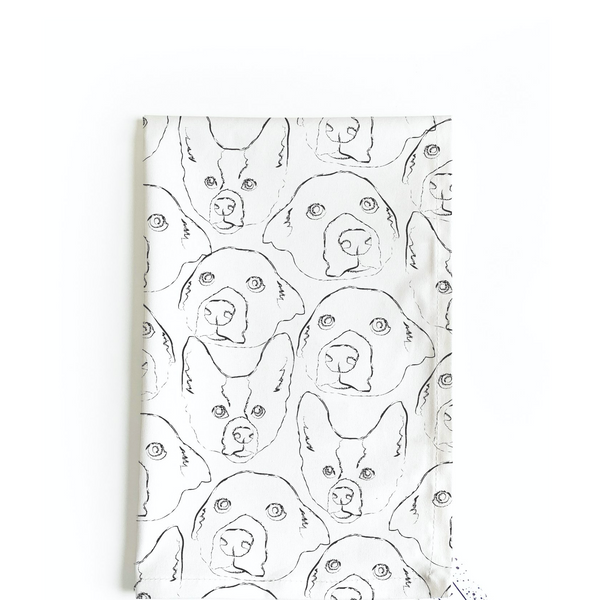 Doggo tea towel