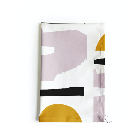 Atardecer tea towel