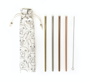 Reusable Straws 6 piece Set - doggo