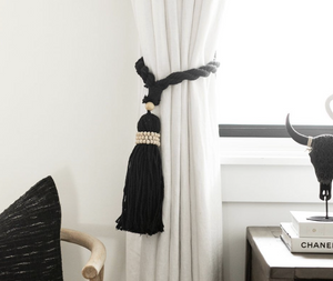 Black yarn decor