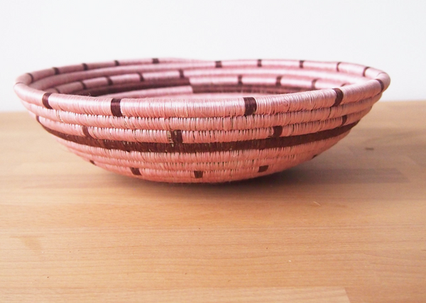 "12"" Dusty rose and pink wall basket"