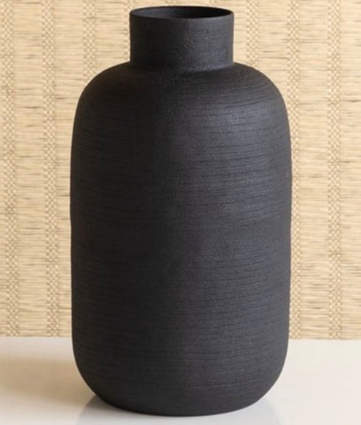 Black oblong vase