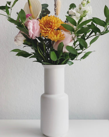 Medium White Deco Vase
