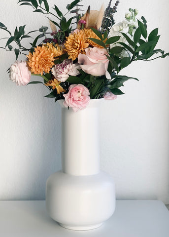 Large White Deco Vase