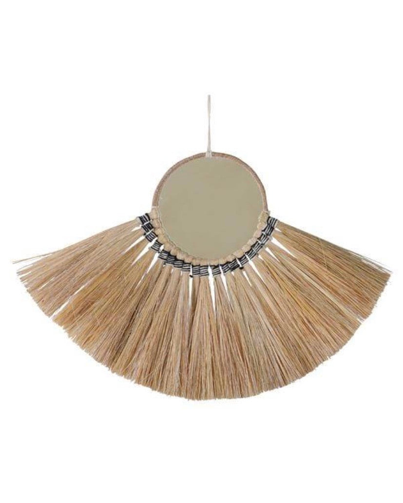 Ethically Made Fringe Mirror 13in