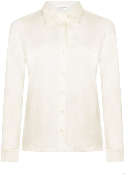 Tramontana Basic Blouse L/S Off White