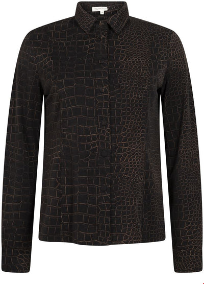 Tramontana Blouse Travel Croco Print