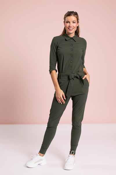 Studio Anneloes Angelique jumpsuit 3/4 with cuff Green NIEUW. To the max. 90544.