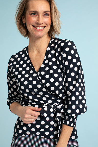 Studio Anneloes Giselle dot wrap top NIEUW. EXTENDED FAMILY. 04386