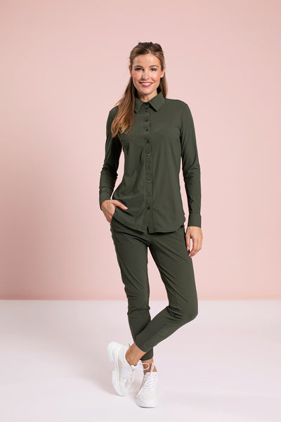 Studio Anneloes Startup trousers Green NIEUW. New basic. 90770.