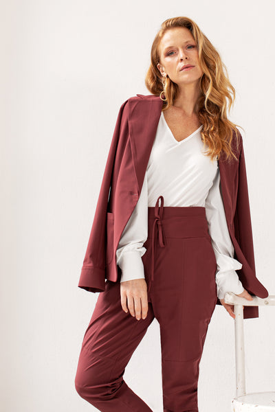 Studio Anneloes New franka trousers wine red NIEUW. 05388.