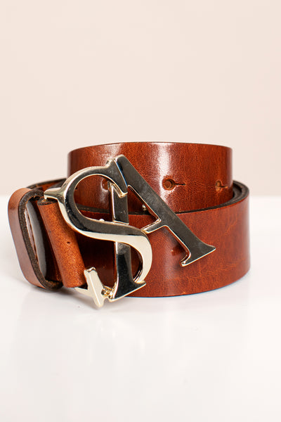 Studio Anneloes gold buckle leather belt NIEUW. 05210
