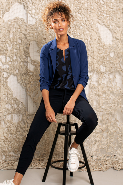 Studio Anneloes Clean blazer classic blue travel 04878-6700 NIEUW