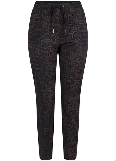 Tramontana Trousers Travel Croco Print