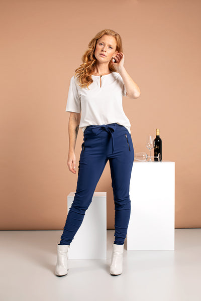 Studio Anneloes Margot Trousers Classic blue NIEUW. 04998