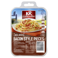 BACON PIECES RINDLESS 250G
