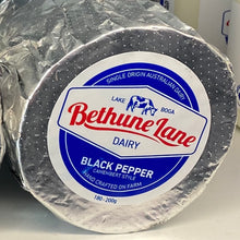 Load image into Gallery viewer, BETHUNE LANE CAMEMBERT 180-200G BLACK PEPPER