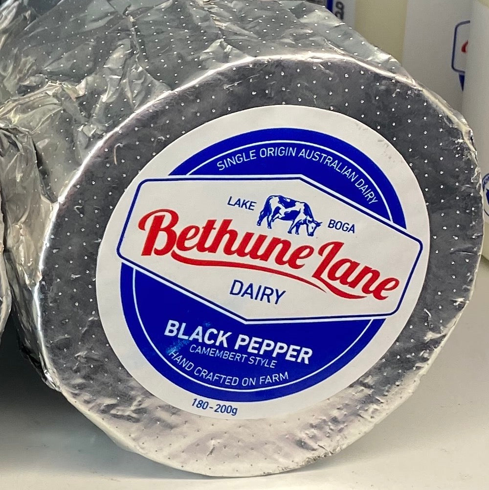 BETHUNE LANE CAMEMBERT 180-200G BLACK PEPPER