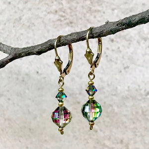 Vintage Swarovski Denton — Vitrail Rainbow Crystal Earrings