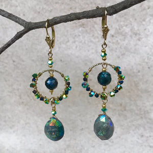 In Love With Labradorite —  Earrings