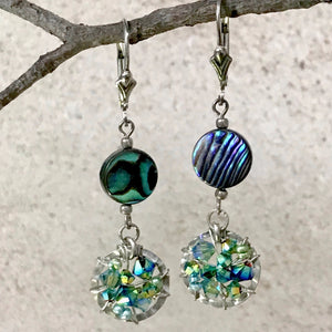 Abalone Shores  — Turquoise — Bloom Collection Earrings
