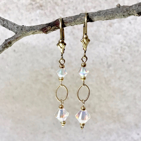 Dune Breeze — Opalescent Crystal Earrings