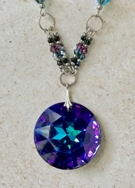 Polaris — Vintage Purple Crystal Pendant Necklace