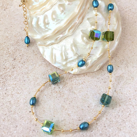 Caribbean Dreams Necklace — Turquoise and Green