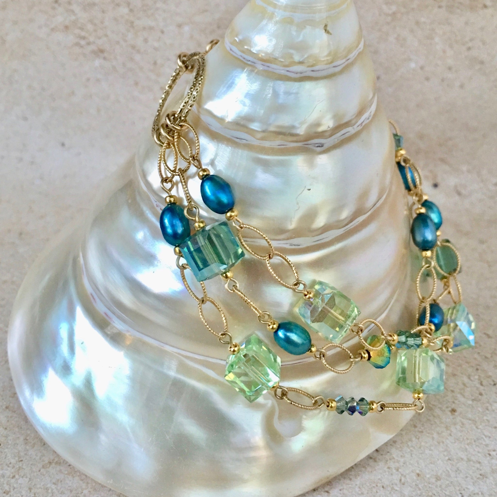 Caribbean Dreams Bracelet — Turquoise and Green