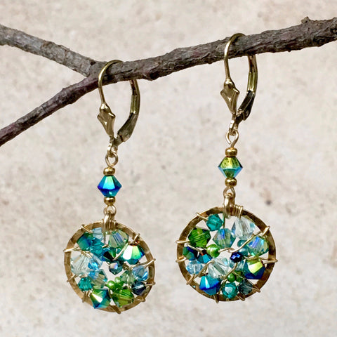 Simply Elegant — Turquoise & Sage — Bloom Collection Earrings