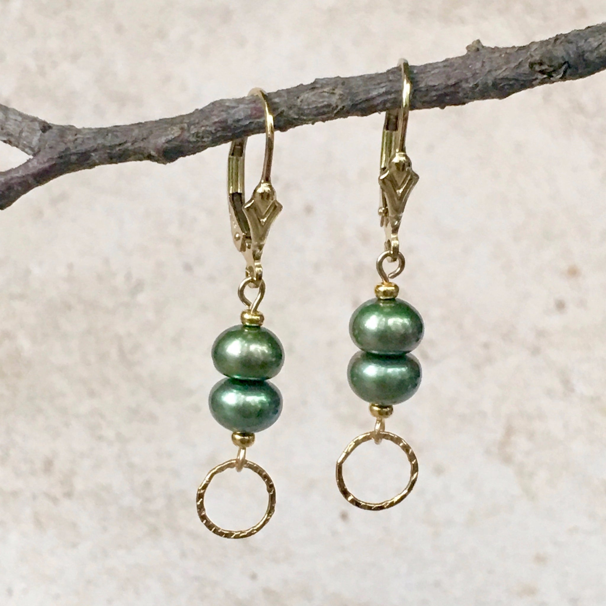Into The Mystic — Sage Green Earrings