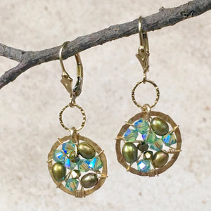 Simple Sophistication — Olivine — Bloom Collection Earrings