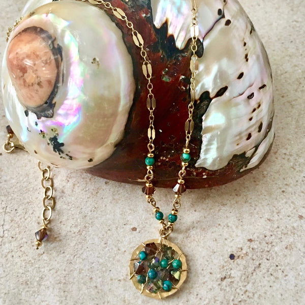 Pop Necklace — Turquoise — Bloom Collection
