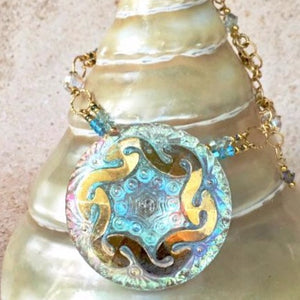 Opalescent Swirl Pendant Necklace