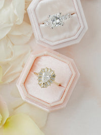 spring color peachy velvet ring box
