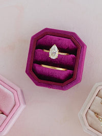 dark pink bevel octagon ring box