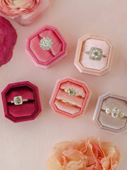 pink bevel ring box