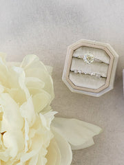 natural sage double ring box gift bridal