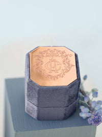 rose gold engraving metal top