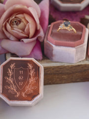 rose gold metal bevel ring box