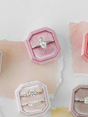 light pink bevel ring box