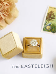mustard yellow velvet wedding ring box