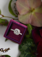 cushion cut engagement ring box gift