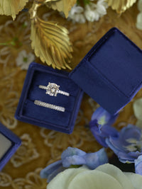 beautiful deep blue ring box